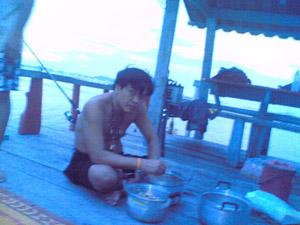 บ้านสีฟ้า + แพตกปลา กลางทะเลที่ มะขามหมู่ ศรีราชา