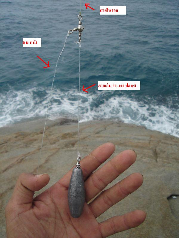 การตกปลาแบบ หน้าดินชายฝั่งทะเล  โขดหิน by Shadow