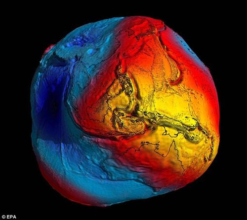 ภาพดาวเทียมเผยรูปร่างที่แท้จริงของโลก