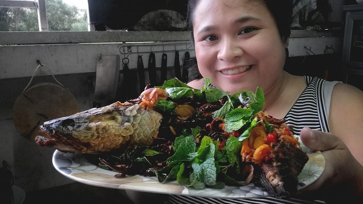 อาหารแนะนำวันนี้ครับ..ปลาช่อนลุยสวน