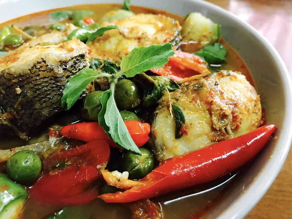 แกงเผ็ดปลาหางควาย