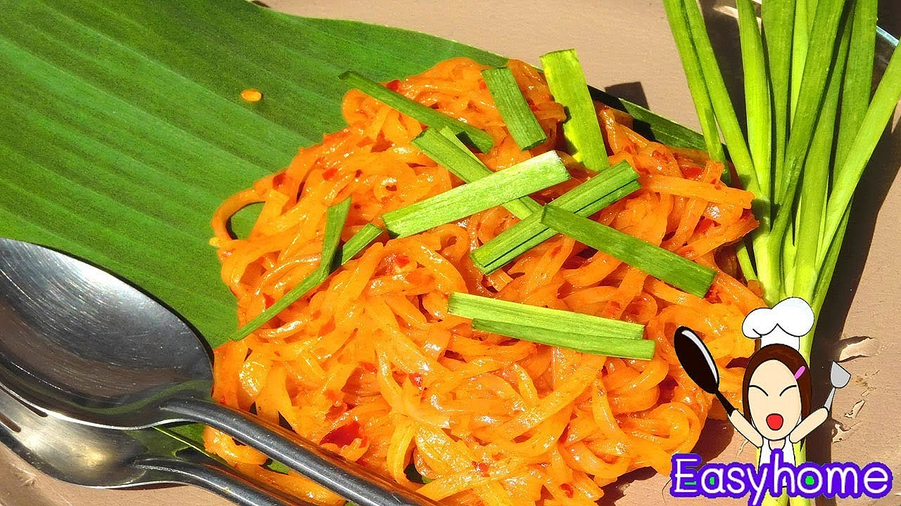 ผัดไทยไชยาทำง่ายๆๆพร้อมสูตรน้ำซอสครับ