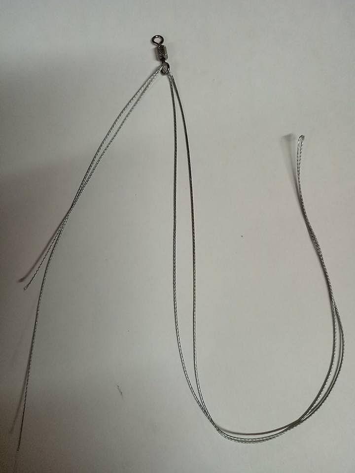 เทคนิคการผูกตะกร้อหน้าดินแบบ 2 ตะขอเบ็ด(บนตัวล่างตัว)