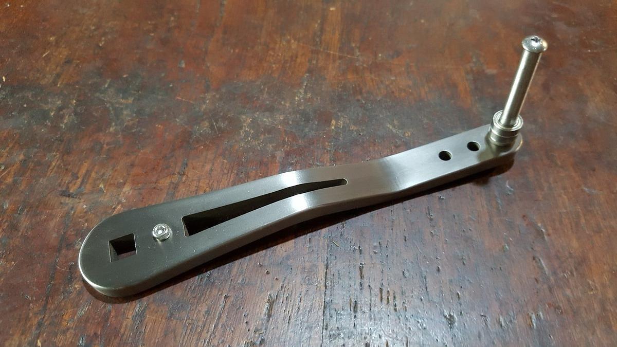 แขน titanium หนา6mm ยาว120mm For Torsa 16N,16,20 และ Blue Heaven L50Hi/R
