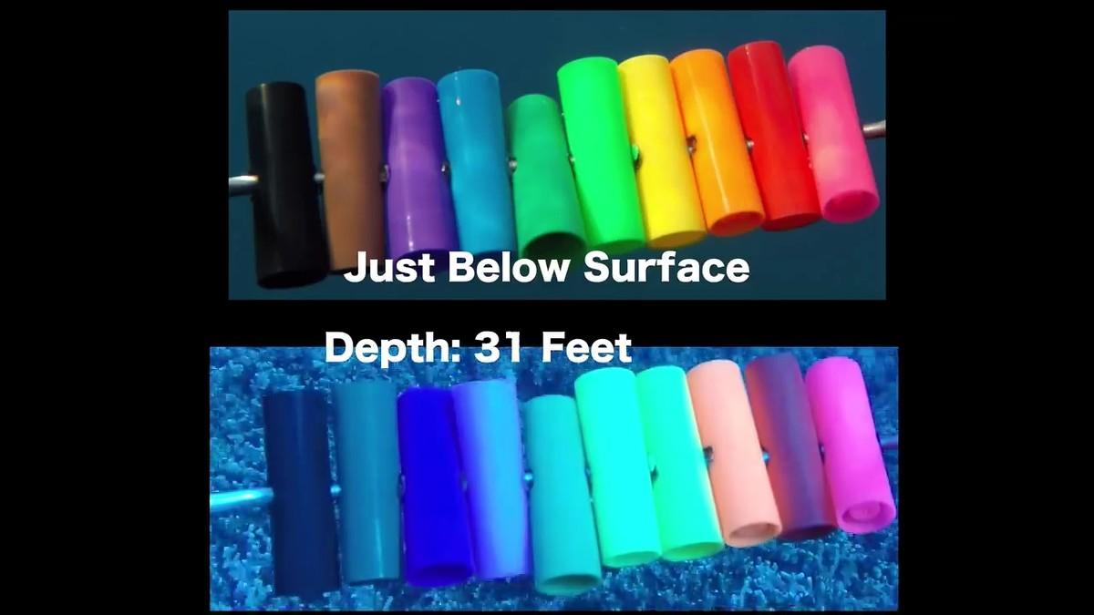 การเลือกใช้สีของเหยื่อกับระดับความลึกของน้ำ