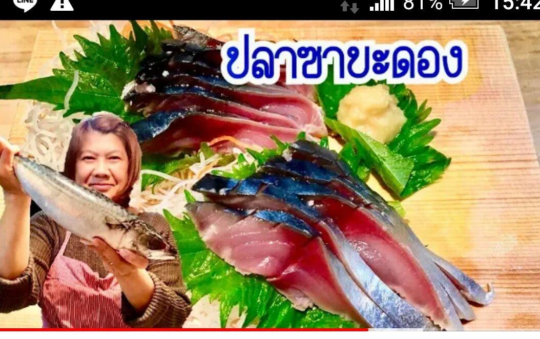 ปลาซาบะดอง กะพงก็น่าจะดองได้