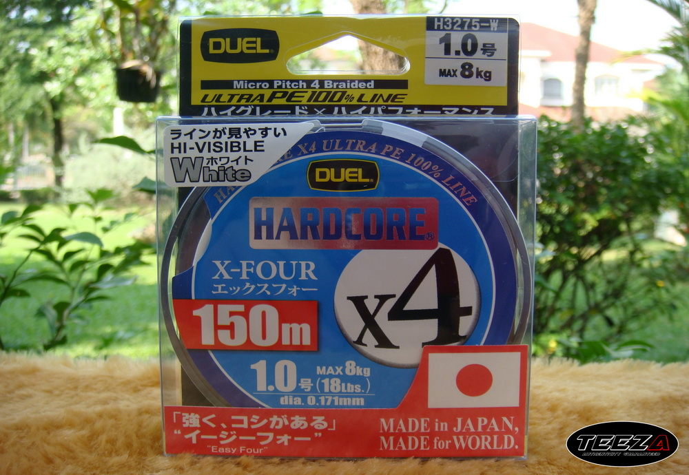 [b][center]13.  DUEL HARDCORE X4 WHITE 1.0  ม้วนละ  600  บาท[/b][/center]